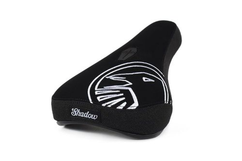 Shadow Crow Mid Seat - Black With White Embroidery
